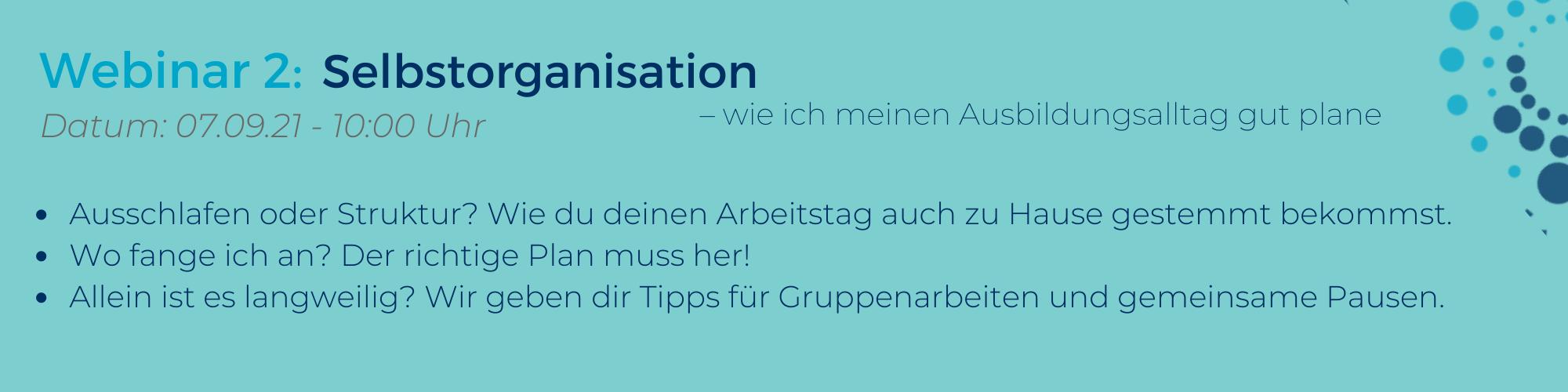 Webinar: Azubi-Webinar-Reihe Selbstorganisation für Azubis